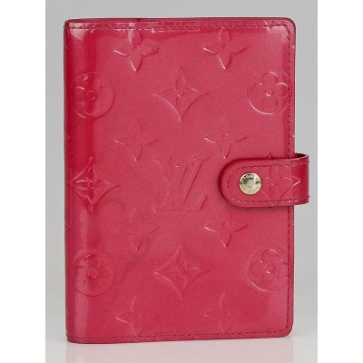 Louis Vuitton Framboise Monogram Vernis Small Agenda Notebook/Cover