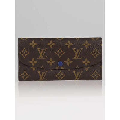 Louis Vuitton Monogram Canvas Blue Emilie Wallet