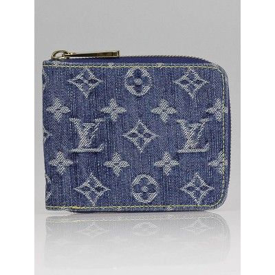 Louis Vuitton Blue Denim Monogram Denim Small Zippy Wallet
