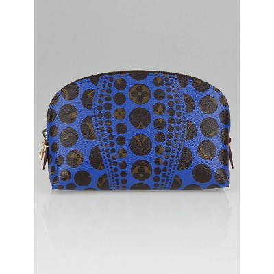 Louis Vuitton Limited Edition Yayoi Kusama Cosmic Blue Monogram Pumpkin Dots Cosmetic Pouch