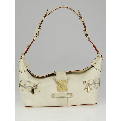 Louis Vuitton White Suhali Leather L'Impetueux Bag