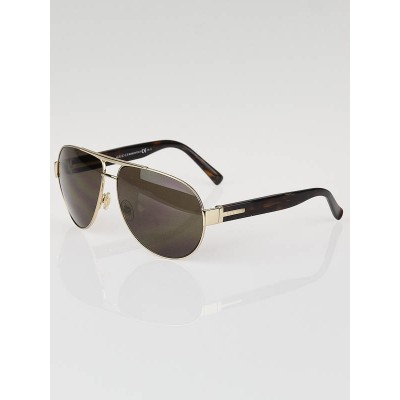 Gucci Gold Frame and Tortoise Shell Aviator Sunglasses-GG 1924/S