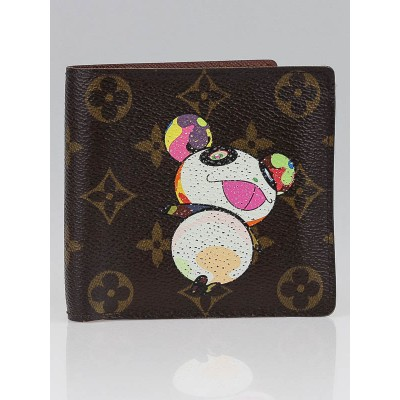Louis Vuitton Limited Edition Monogram Canvas Murakami Panda Bifold Wallet