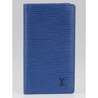 Louis Vuitton Toledo Blue Epi Leather Checkbook Cover