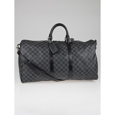 Louis Vuitton Damier Graphite Canvas Keepall 55 Bag