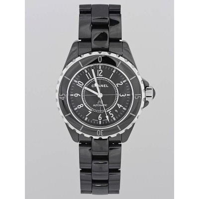 Chanel Black J12 Ceramic 38mm Swiss Quartz Watch