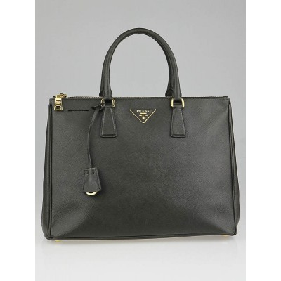 Prada Militaire Saffiano Lux Leather Double Zip Large Tote Bag BN1786
