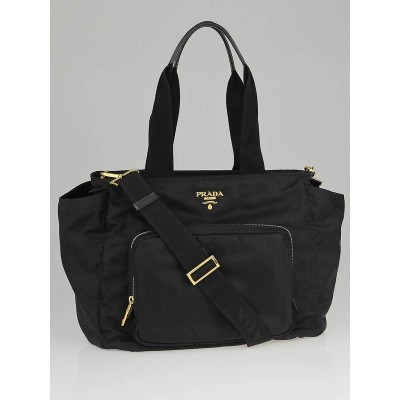 Prada Black Tessuto Nylon Diaper Bag BR1402