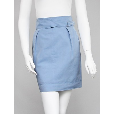 Gucci Blue Cotton/Silk Skirt Size 4/38
