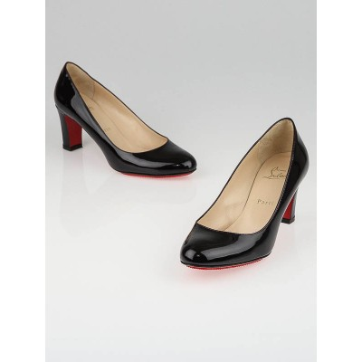Christian Louboutin Burgundy Patent Leather Mistica 60 Pumps Size 7.5/38