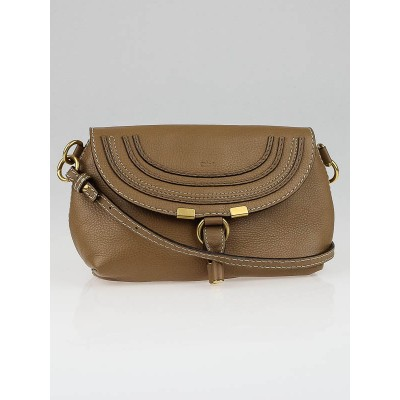 Chloe Tan Leather Small Marcie Crossbody Bag
