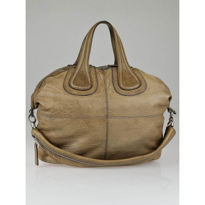 Givenchy Tan Wrinkled Sheepskin Leather Medium Nightingale Bag