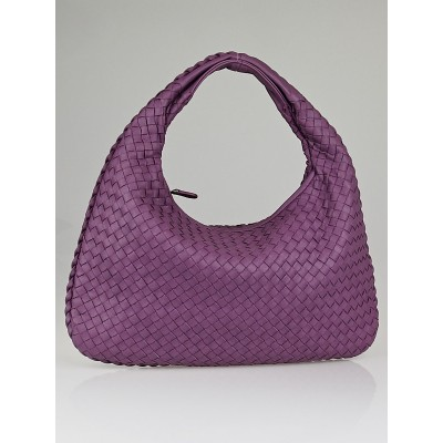 Bottega Veneta Corot Intrecciato Woven Nappa Leather Medium Veneta Hobo Bag
