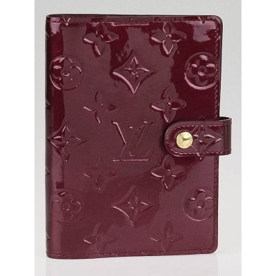 Louis Vuitton Rouge Fauviste Monogram Vernis Small Ring Agenda/Notebook Cover