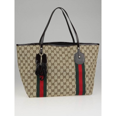 Gucci Beige/Ebony GG Fabric Jolie Large Tote Bag