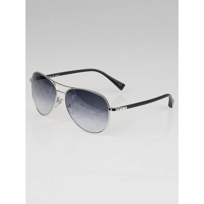 Louis Vuitton Silver Metal Frame Monogram Conspiration Pilote Sunglasses