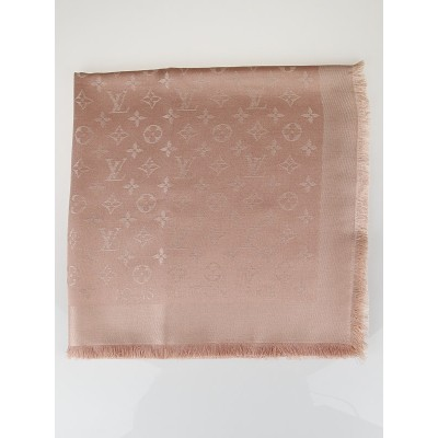 Louis Vuitton Nude Monogram Silk/Wool Shawl