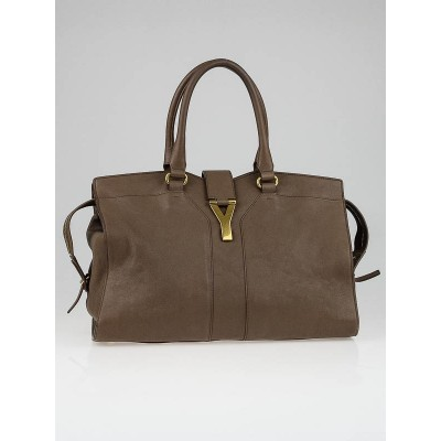 Yves Saint Laurent Taupe Leather Medium Cabas ChYc Bag