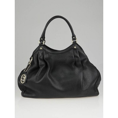 Gucci Black Leather Large Sukey Tote Bag