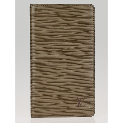 Louis Vuitton Pepper Grey Epi Leather Checkbook Cover