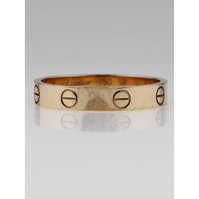 Cartier 18k Pink Gold LOVE Ring Size 8/57