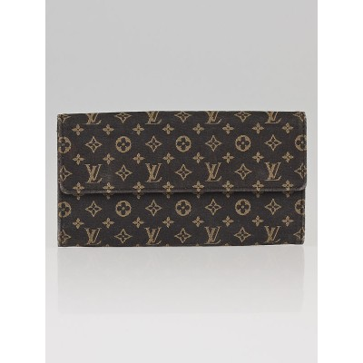 Louis Vuitton Ebene Mini Lin Canvas Porte Tresor International Wallet