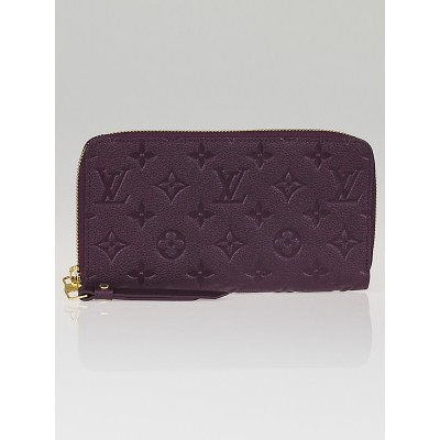 Louis Vuitton Aube Monogram Empreinte Leather Secret Long Wallet