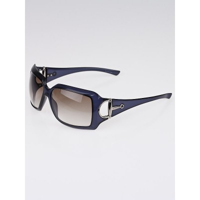 Gucci Dark Blue Frame Gradient Tint Horsebit Sunglasses-2562/S
