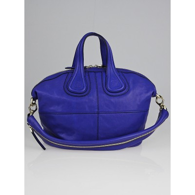 Givenchy Bright Blue Lambskin Leather Small Nightingale Bag