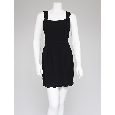 Fendi Black Knit Cross-Back Dress Size 6/40