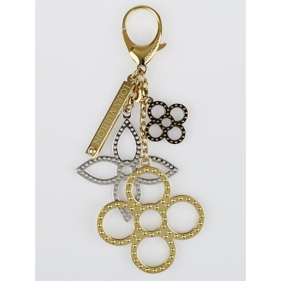 Louis Vuitton Silver/Gold Metal Tapage Key Holder and Bag Charm