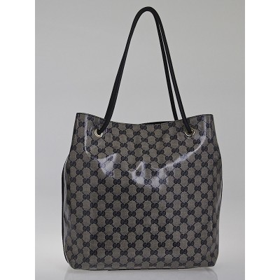 Gucci Blue/Grey GG Crystal Coated Canvas Gifford Tote Bag