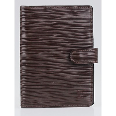 Louis Vuitton Moka Epi Leather Small Ring Agenda/Notebook