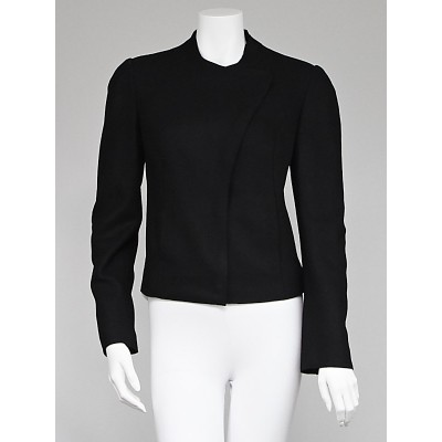 Emporio Armani Black Wool Asymmetrical Jacket Size  8/42