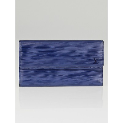 Louis Vuitton Myrtille Blue Epi Leather Porte-Tresor Wallet