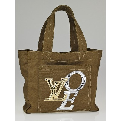 Louis Vuitton Limited Edition Khaki Canvas That's Love 2 Tote PM Bag