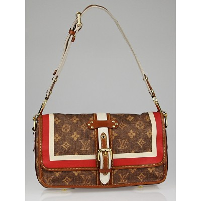 Louis Vuitton Limited Edition Monogram Tisse Porte Rayures Clutch Bag