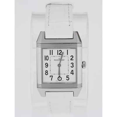 Jaeger LeCoultre White Dial and Stainless Steel  Reverso Squadra Automatic Watch