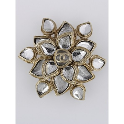 Chanel Resin Stone Flower CC Brooch/Pendant