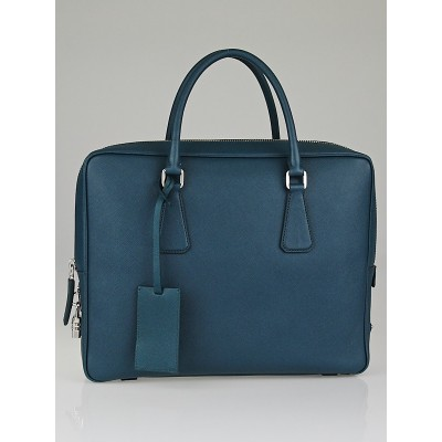 Prada Ottanio Saffiano Leather Travel Briefcase Bag VS0305
