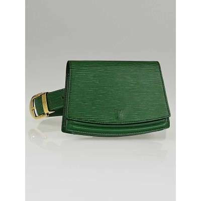 Louis Vuitton Borneo Green Epi Leather Pochette Tilsitt Waist Pouch with Belt Size 110/44