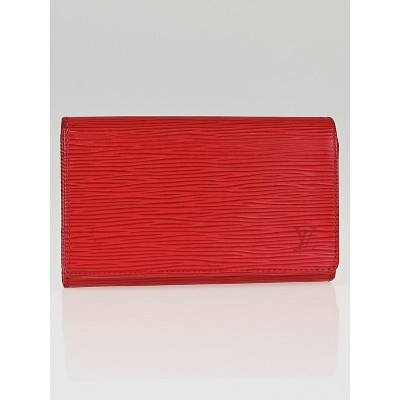Louis Vuitton Red Epi Leather Tresor Wallet