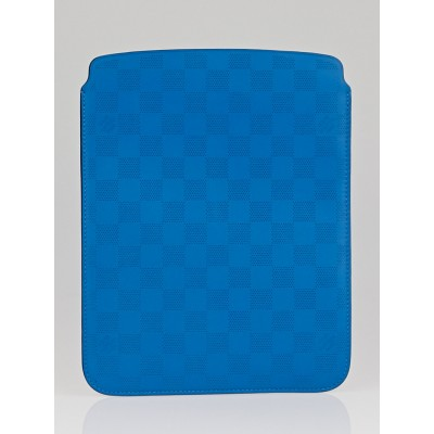 Louis Vuitton Cyan Damier Perforated Leather Softcase iPad 4 Cover