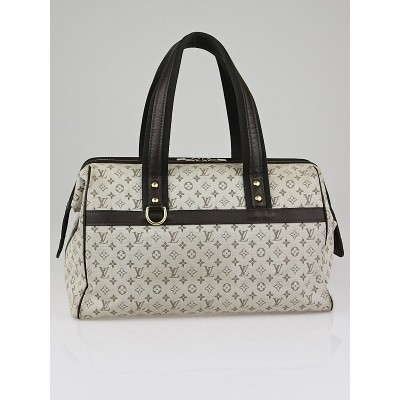 Louis Vuitton Green Mini Lin Canvas Josephine GM Bag