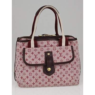 Louis Vuitton Cherry Monogram Mini Lin Canvas Sac Mary Kate Bag
