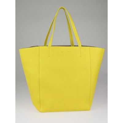 Celine Sun Yellow Calfskin Leather Cabas Phantom Bag