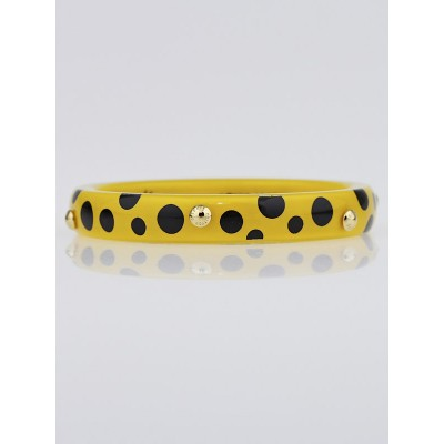Louis Vuitton Limited Edition Yayoi Kusama Yellow Dots Infinity Bangle PM Bracelet Size M