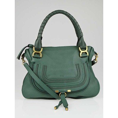 Chloe Eucalyptus Leather Medium Marcie Satchel Bag
