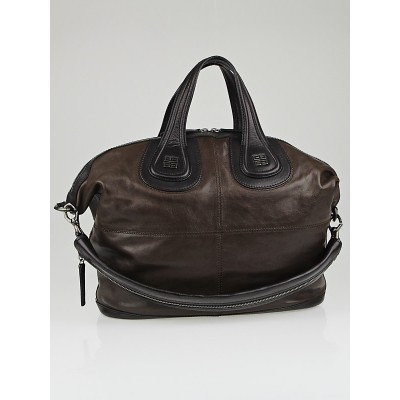 Givenchy Brown/Black Calfskin Leather Two-Tone Medium Nightingale Bag