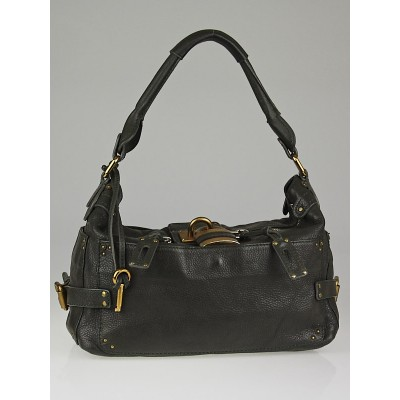 Chloe Khaki Leather Paddington Large Hobo Bag